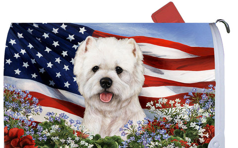 Westie - Best of Breed Patriotic I Dog Breed Mail Box Cover