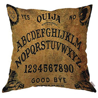 Moslion Throw Pillow Cover Case Vintage Retro Ouija Boards Design Cotton Linen Cushion Covers for Couch/Sofa/Kitchen/Car/Boy Gilrs Bedroom Livingroom 18 x 18 inch Pillow case