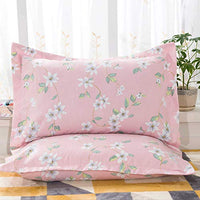 Pillow Cases Floral Print Pillowcase Vintage Floral Flowers Pattern Printed Soft Microfiber Pillow Shams Soft and Cozy Wrinkle Fade Stain Resistant Pack of 2, 20x30 Coralista Envelope Closure End
