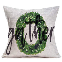 Fukeen Cotton Linen Throw Pillow Cases Farm Fresh Flower Market Vintage Truck Pickup Watercolor Floral Pillow Covers Square 18x18 Inches Farmhouse Decorative Pillows Cushion Cover (Seeds Stems Blooms)