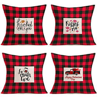 "Hopyeer Vintage Beer Theme Throw Pillow Covers Cotton Linen Pillow Case Cushion Cover Cheer Quote Lettering Pattern Square Pillow Covers Set 4 Leisure Bar Home Sofa Decoration 18""x18"" (Vintage Beer)"