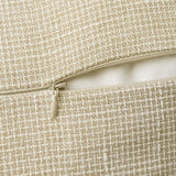 MIULEE Pack of 2 Decorative Throw Pillow Covers Farmhouse Modern Trimmed Linen Burlap Cushion Cases Vintage Decor Pillowcases for Couch Sofa Bedroom 12 x 20 Inch Beige