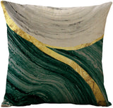 WOMHOPE Set of 4 Vintage Geometric Decorative Throw Pillow Covers Pillow Cases Cushion Cases 18 x 18 Inch for Living Room,Couch and Bed (Green)