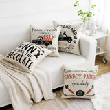 WLNUI Easter Day Pillow Cover 18x18 Inch Easter Home Decorations Farm Fresh Carrots Easter Eggs Bunny Vintage Truck Set of 4 Decorative Throw Pillow Cover Cushion Case for Farmhouse Home Decor