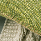 MIULEE Pack of 2 Decorative Throw Pillow Covers Farmhouse Modern Trimmed Cord Linen Burlap Cushion Cases Vintage Decor Pillowcases for Couch Sofa Bedroom 12 x 20 Inch Green
