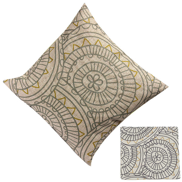 1 PC Vintage Cotton Linen Cushion Cover Throw Pillow Case Sofa Bed Decor