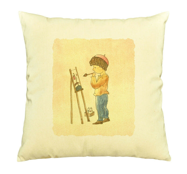 100% Cotton Throw Pillows Cover Cushion Case Printed Vintage Kids Artist VPLC_03