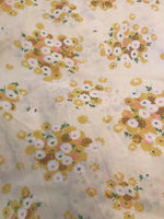 Vintage Pacific Miracale Fitted Double Sheet & Flat Sheet Set Floral Yellow USA