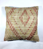 "Large Kilim Pillow Cover Oriental Vintage Handwoven 20x20"" Pillow Cover 230"