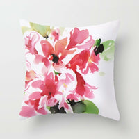 Vintage Flower Printed Throw Pillow Case Sofa Cushion Cover Bed Home Decor 18""