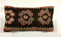 8x16 Kilim Pillow Cover Turkish Vintage Ethnic Small Lumbar Throw Cushion 488
