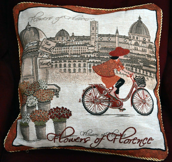 "1 PC 18"" Beige Sofa Decor Accent Vintage Girl Throw Pillow Cushion Cover Case"