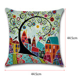 Fashion Vintage European Building Sofa Pillow Case Car Back Cushion Decor Cover