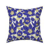 Floral Retro Garden Botanical Throw Pillow Cover w Optional Insert by Roostery