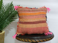 Traditional Moroccan Pillow berber Vintage-Handmade Cover 14 / 14 inches