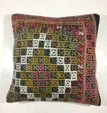 16x16 Kilim Pillow Cover Turkish Vintage Home Decorative Tribal Wool Cushion 800