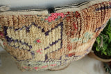 Traditional Moroccan Pillow berber Vintage-Handmade Cover 20/18 inches
