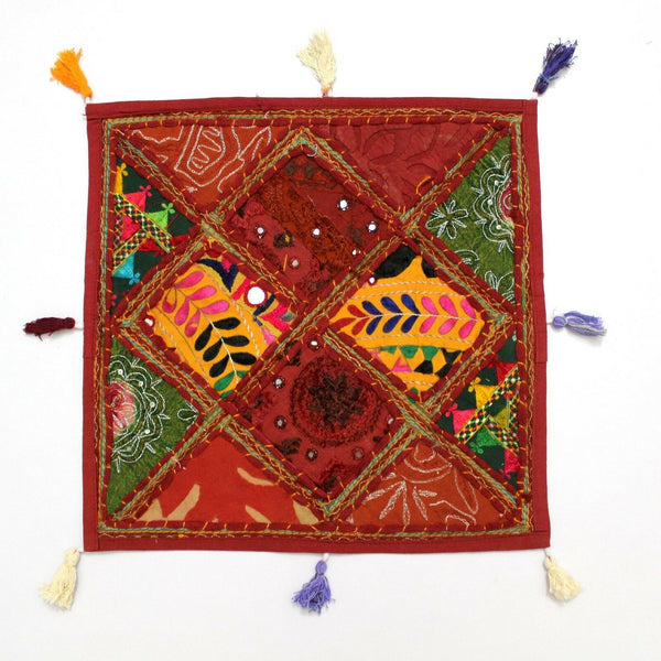Indian Bohemian Handmade Home Decor Vintage Pillow Sham Couch Cushion Cover Case
