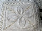 Vintage Hand Crochet Flower Cushion Cover