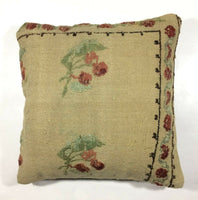 16x16 Kilim Pillow Cover Turkish Vintage Sofa Couch Handmade Square Cushion 160