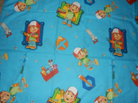 LN Vintage Disney HANDY MANNY Twin Flat bed Sheet {Fabric}