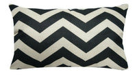 "12x20"" Vintage Black PILLOW COVER Bed Sofa Double-Sided Home Decor Cushion Case"
