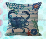 *US SELLER*decorative pillow case for crab decorative pillow case cushion cover