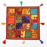 Vintage Indian Patchwork Home Decor Ethnic Pillow Shams Couch Cushion Cover Case
