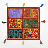 Indian Patchwork Home Decor Gypsy Vintage Pillow Shams Couch Cushion Cover Case