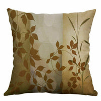 Waist Sofa Leaf Vintage Covers Pillow Cushion Home Decor PillowCase Cover 18''