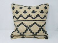 Vintage Afghan tribal kilim pillow cover/ Decorative pillow Afghan Nomadic cushi