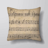 Vintage Music Sheet - Printed Cushion Covers Pillow Cases Home Decor or Inner