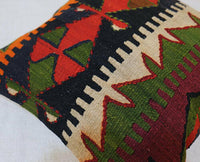 16'' X 16'' UNIQUE PILLOW COVER, KILIM PILLOW CASE,THROW CUSHION,VINTAGE WOVEN