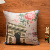"18""Vintage butterfly Cotton Linen Pillow Case Cushion Cover Home Decor"
