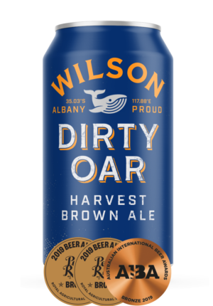 Dirty Oar Harvest Brown Ale is caramel in colour with a smooth, well balanced, malty backbone