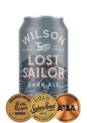 Lost Sailor Dark Ale is a true favourite of Wilson Brewing Company with a twist on a traditional dark beer.