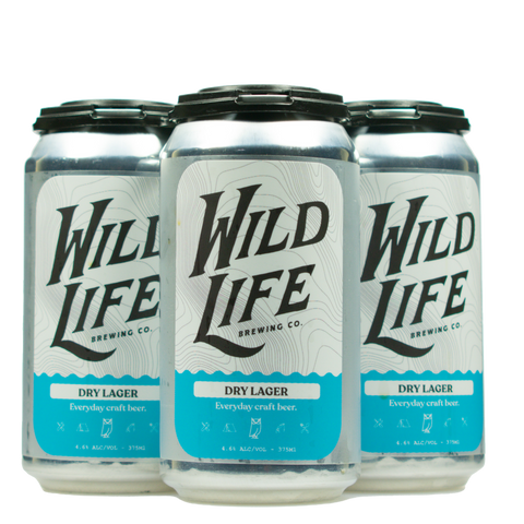 Wild Life Dry Lager Case 16 cans