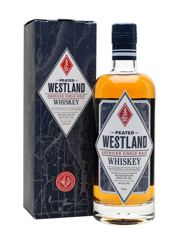 Westland's peated malt is made with a proportion of very heavily peated whisky combined with unpeated, aged in American oak. An excellent balance between smoke and fruit, with notes of earth, green herbs and roasted nuts.