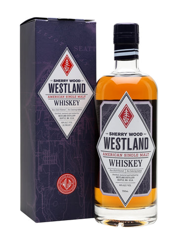Westland's sherried expression takes its inspiration from Scotch, but has an American feel. Rich and sweet with notes of maple syrup, raisins, cookies and stewed yellow fruits.