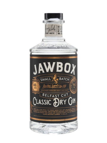 Jawbox Classic Dry is a single-estate gin made at Echlinville distillery near Belfast. Made using 11 botanicals including heather, liquorice, cubeb and grains of paradise, this works particularly well in a G&T.