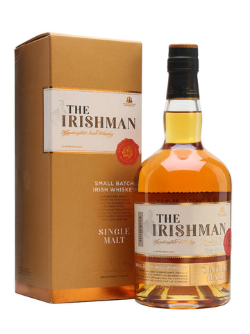 The Irishman Single Malt is a hugely popular brand. Triple distilled and aged in both bourbon and oloroso sherry casks, this has plenty of ripe-fruit notes, along with vanilla sweetness, toasted nuts and apricot.