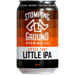 No need to tread lightly with our lower alcohol IPA that is little in name but large in tropical hop character. No compromises.
