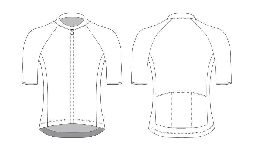 Club Fit Cycling Jersey with Short Sleeves - Custom Design