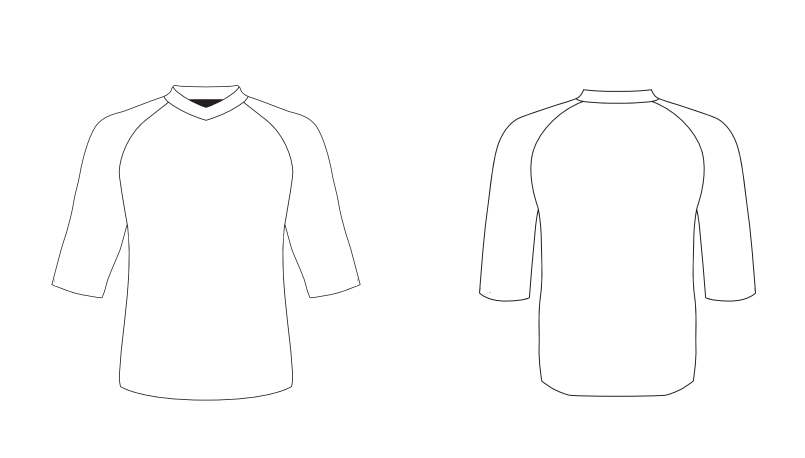 Loose Fit Jersey with 3/4  Sleeves - Custom Design