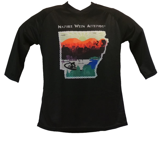 Nature With Attitude -Black 3/4 Sleeve