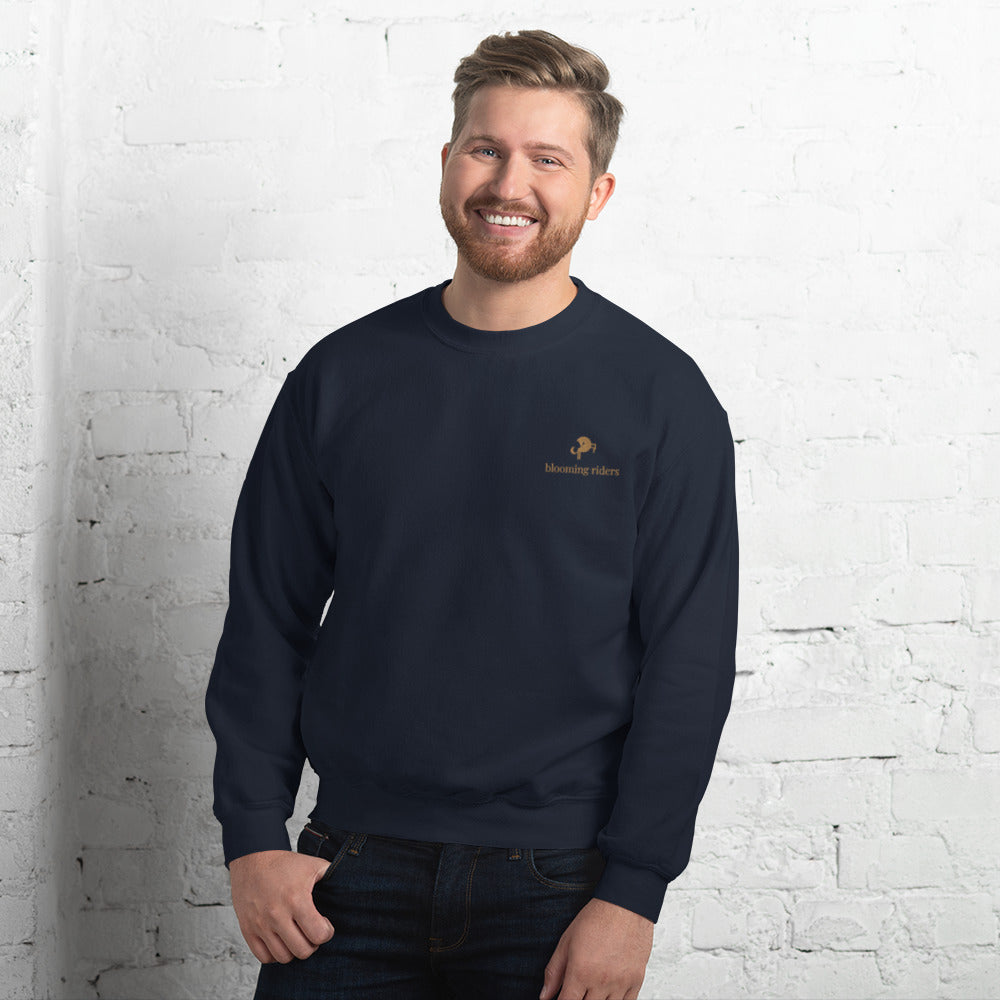 Sweat-shirt marine homme