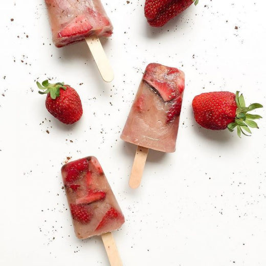 Chocolate Strawberry Protein Popsicles