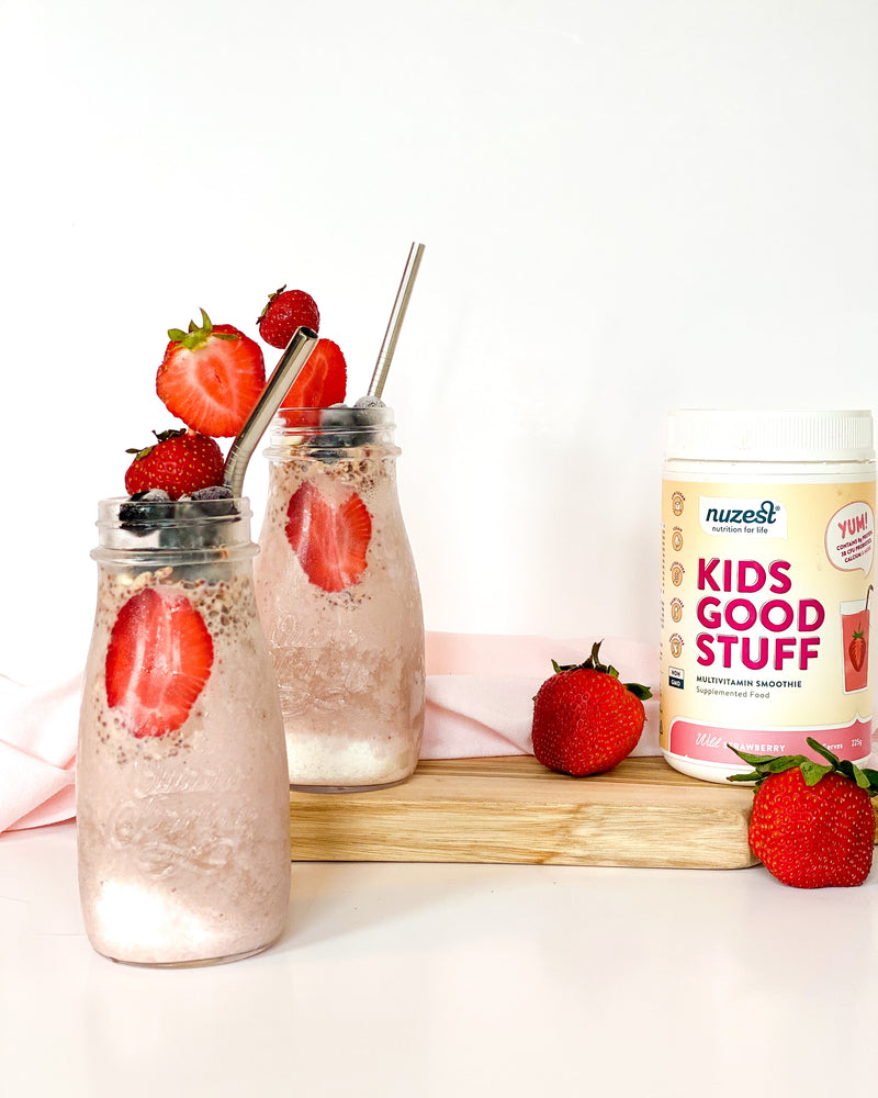 PUFFED QUINOA STRAWBERRY SMOOTHIE