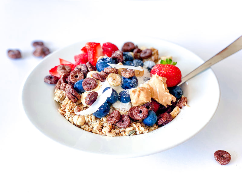 PROTEIN GRANOLA WITH M.A.D MILK