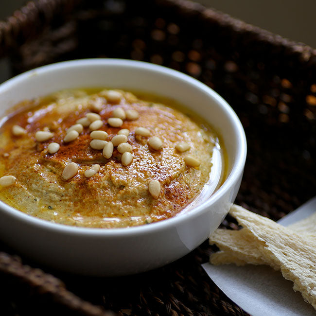 Roasted Garlic and Zucchini Hummus